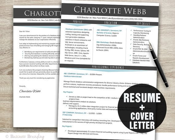 Gray Blue Resume Template - CV Template - Instant Download Medical - Medical Templates For Word