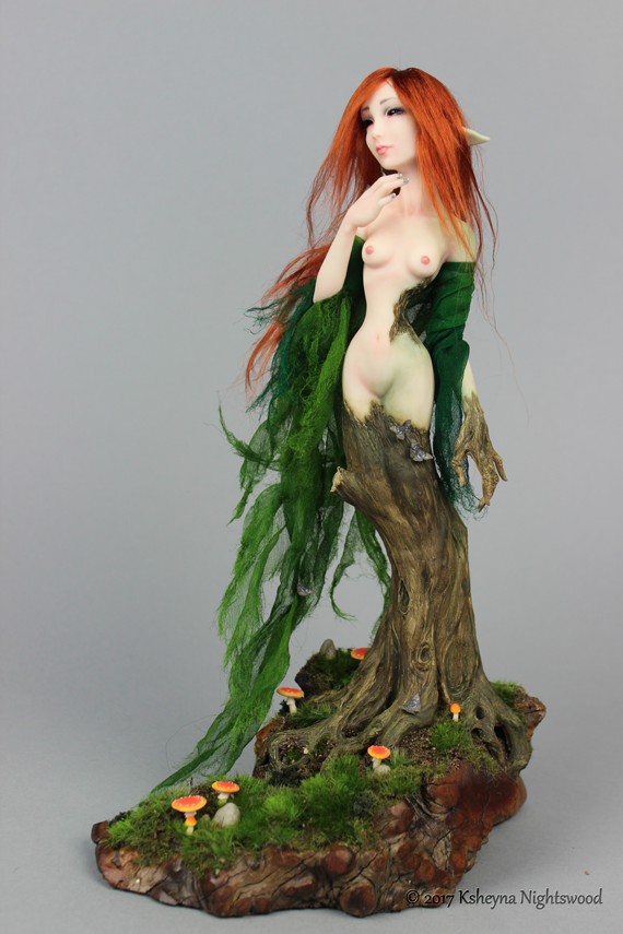 Photo of Sythara – OOAK Dryad Art Puppenskulptur