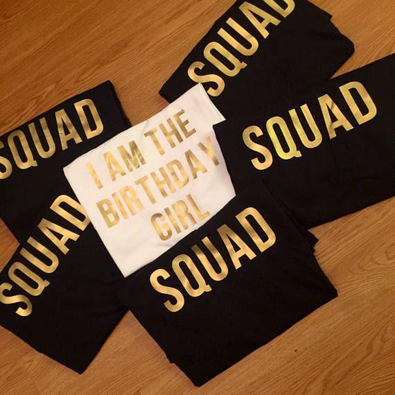 Birthday Squad Shirts Birthday Party Shirt I am the Birthday Girl Birthday Group Shirts Birthday Crew Shirts Birthday Group Party