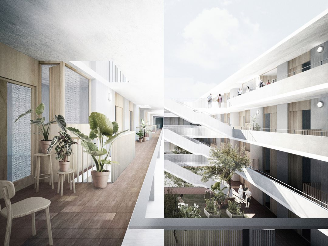 Ravetllat Arquitectura On Instagram 2n Premi Al Concurs D Habitatges Per A Gent Gran Casal De Barri I De Joves A L Espai Quiró A L Avingud Home Decor Stairs