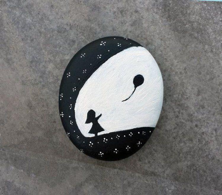 Steine bemalen: 40 Ideen für originelles Basteln mit Steinen #steinebemalenkinder