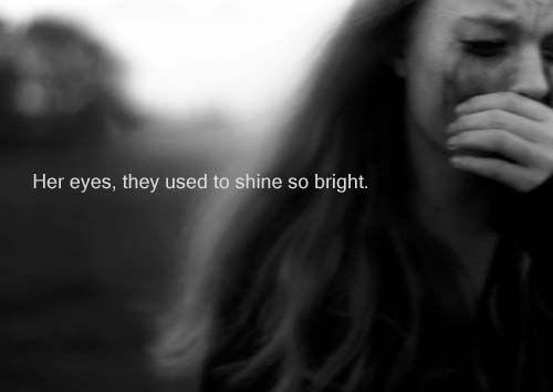 Dark Depressed Quotes Girls Black And White Life Depressed Sad