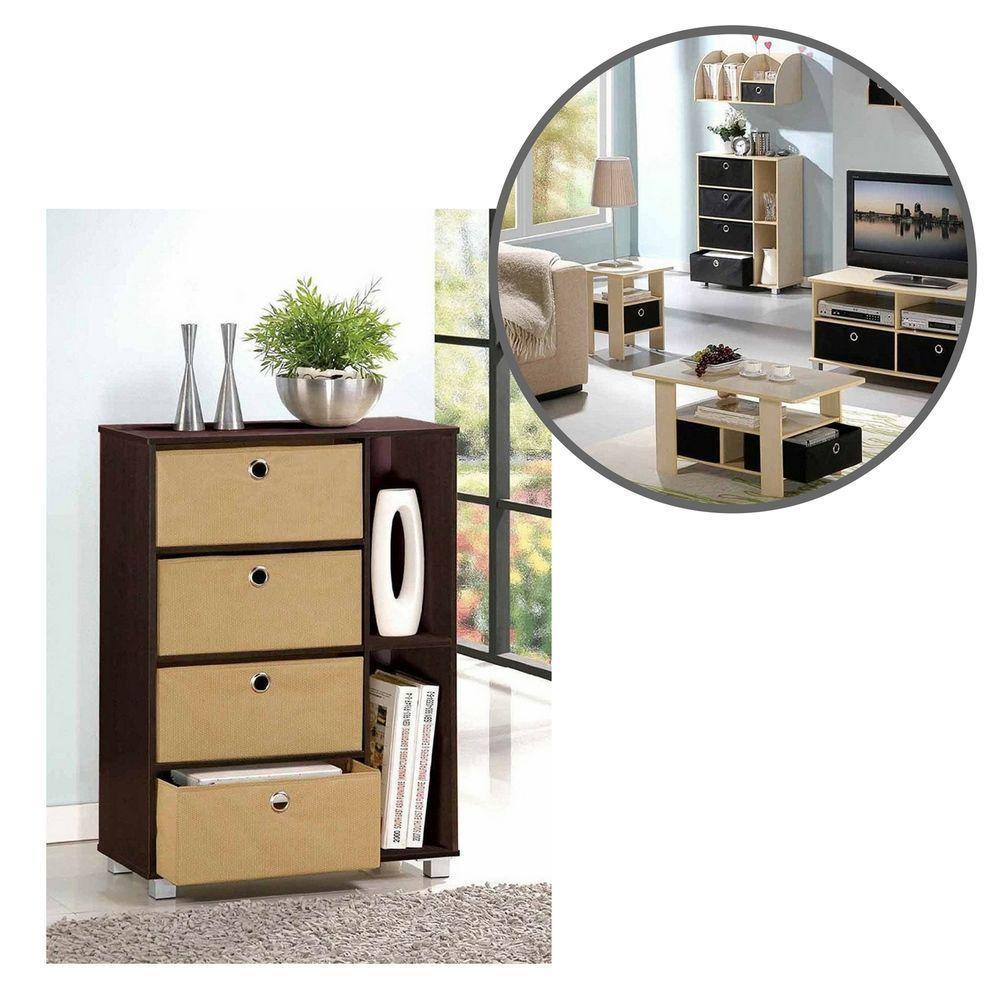 Durable modern wood cabinet storage multipurpose drawer home living
