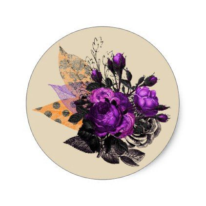 Halloween Floral Bouquet Stickers - halloween design