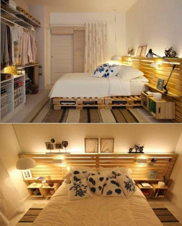 Palettenbett  Bett aus paletten sofa aus paletten paletten bett möbel aus ...