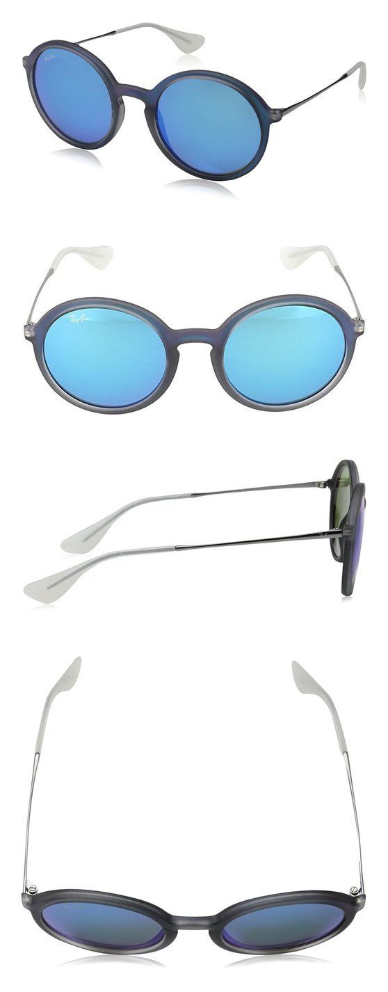 40c8abbac0c  99.99 - Ray-Ban INJECTED MAN SUNGLASS - SHOT BLUE RUBBER Frame LIGHT GREEN  MIRROR