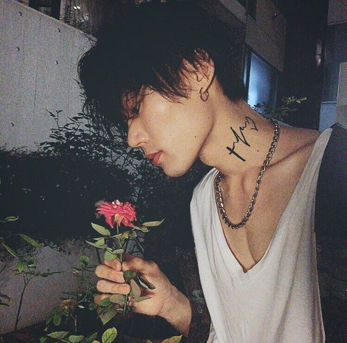 Oh Well \u2022 korean boy male icon korea flower tattoo