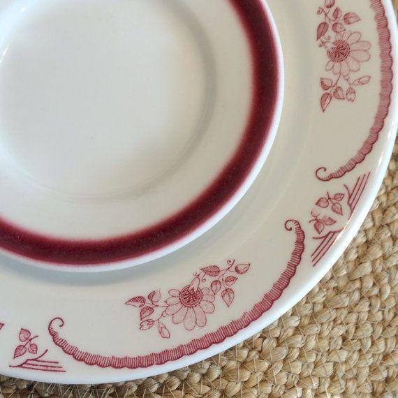Homer Laughlin Dinner Plates American Rose by putnamandspeedwell & Homer Laughlin Dinner Plates American Rose by putnamandspeedwell ...