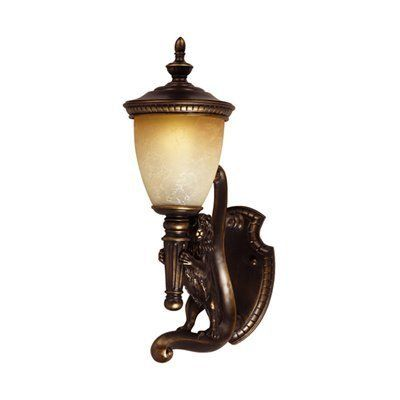 Triarch 75530-14 Lion Outdoor Sconce, Oil-Rubbed Bronze Gold Highlights - Lighting Universe