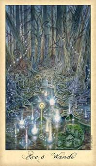 Ace of Wands; Stay attentive to your goal even as change accelerates.  Source: Ace of Wands Tarot Card - Ghosts & Spirits Tarot Deck