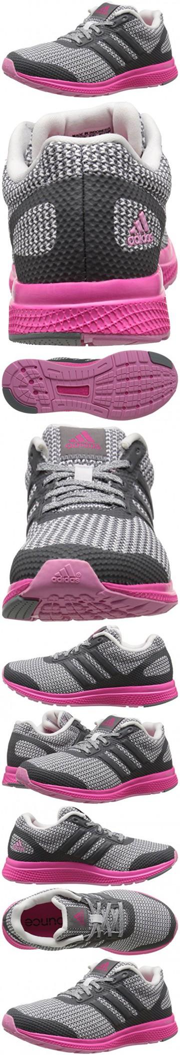 adidas performance donne mana rimbalzare scarpa da corsa, vista grigio / bianco