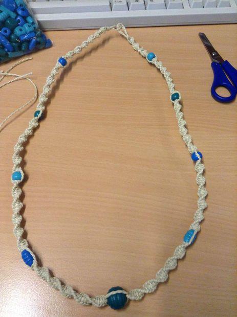 TUTORIAL Macrame Necklace  Macrame Spiral Necklace DIY  Knotty Knotty Macrame