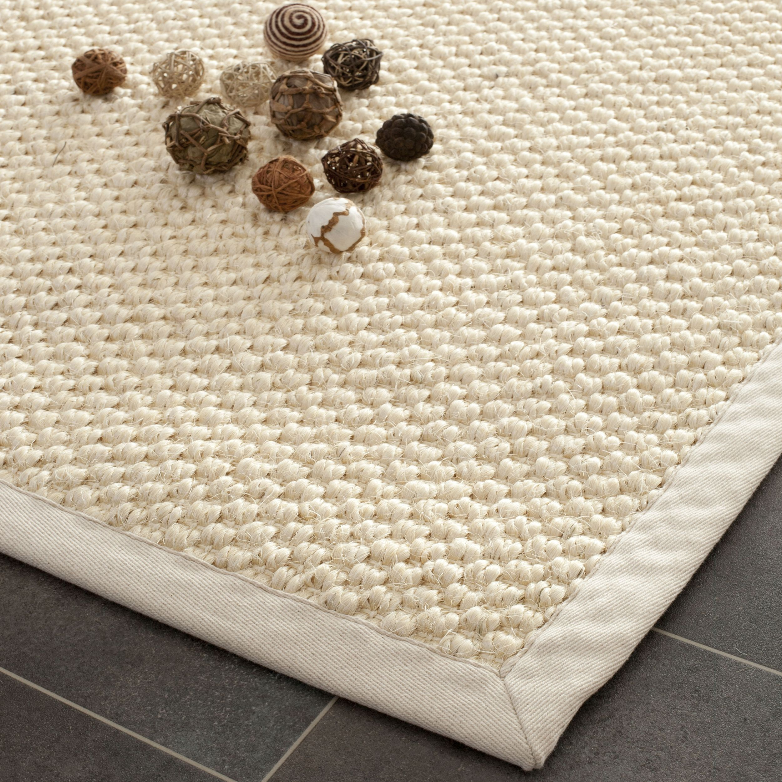 safavieh casual natural fiber chunky basketweave cream sisal rug by safavieh