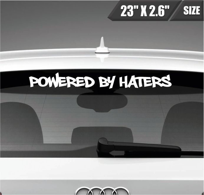 Powered By Haters Windshield Sticker Vinyl Decal Sticker Banner - Funny decal stickers for carsdetails about panty dropper decal funny car vinyl sticker euro jdm