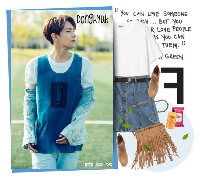 """""""My Type - IKON"""" by pollito21 ❤ liked on Polyvore featuring Chicnova Fashion, H&M, Patchington, ikon and donghyuk"""