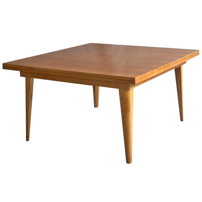 large french 1950s cherrywood dining table with two pull out end rh pinterest com