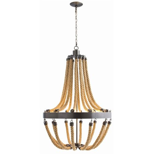 new rope/iron Chandelier by Arteriors  shopdfo.com