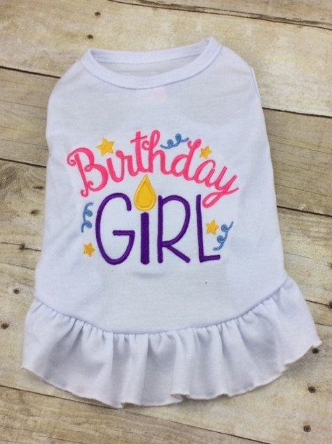Birthday Girl Dog Dress Or Tshirt Custom Monogrammed Party Tee Shirt Happy Best Friend Cute Puppy TShirt By BeauChienBoutique On Etsy