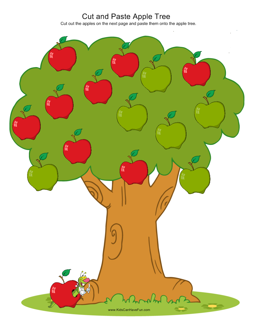 Cut and paste apples onto the apple tree. Visit our School Zone to ...