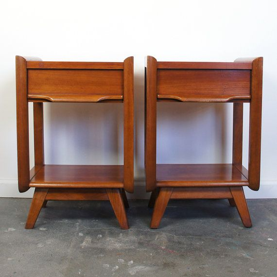 Best Mid Century Nightstands Set Of Two By Harmon By Spunkvtg 400 x 300