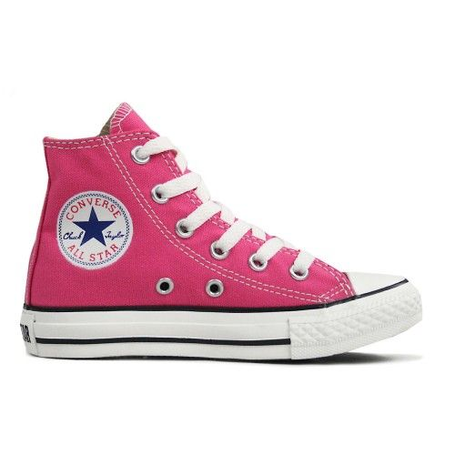 CONVERSE Chuck Taylor All Star Seasonal Hi Junior Kids Trainer - Carnival Pink