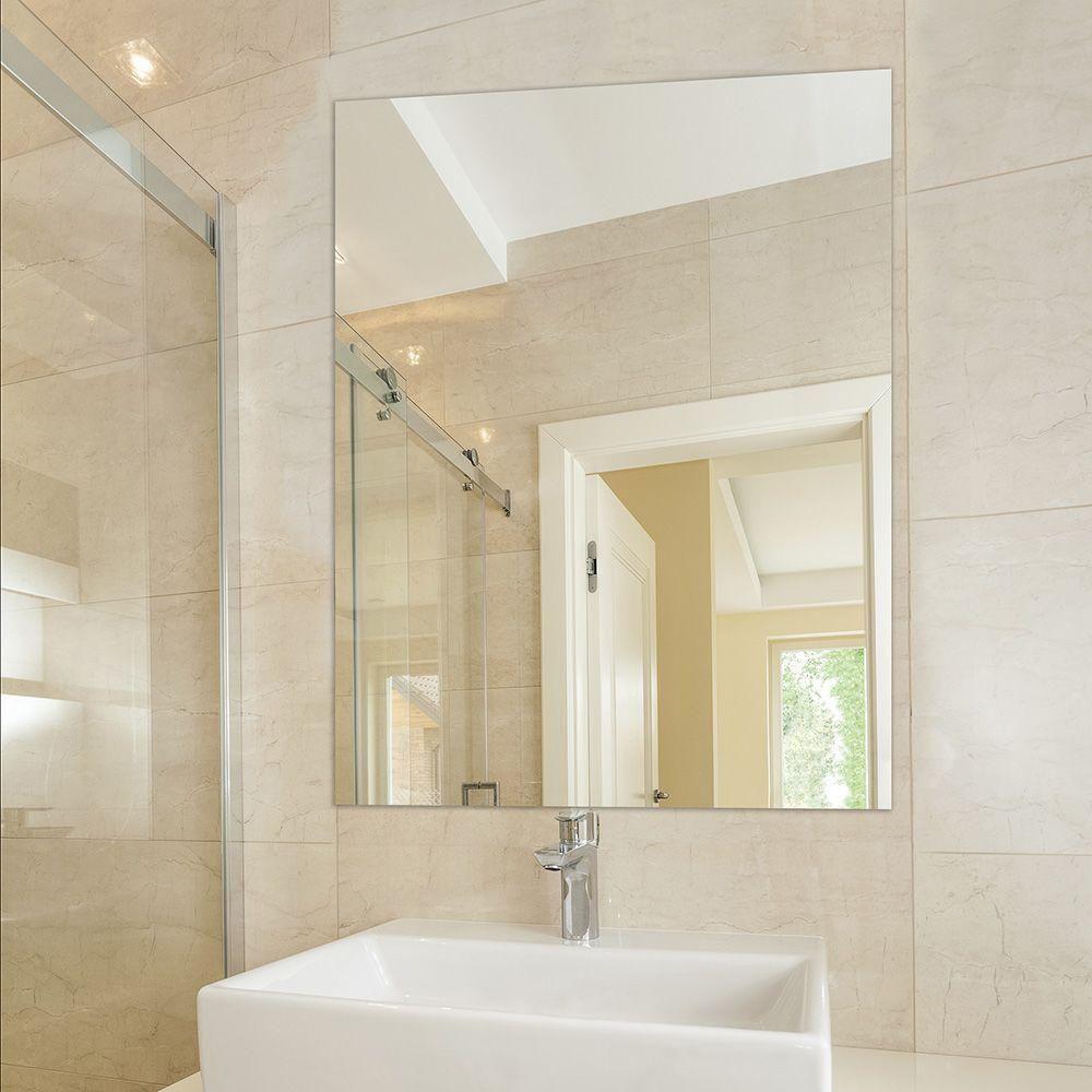 Glacier Bay 36 In W X 48 In L Polished Edge Bath Mirror Silver