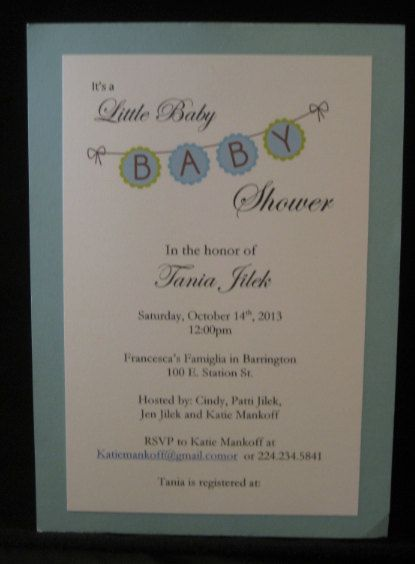 Printed Baby Shower Invitation on Etsy, $23.00