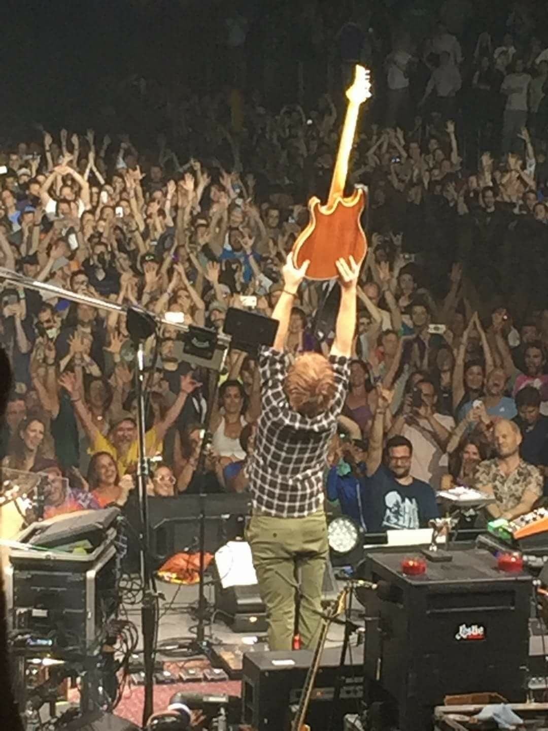 TREY SACRIFICING HIS GUITAR TO THE GODS OF MUSIC! 8-4-16// Madison ...