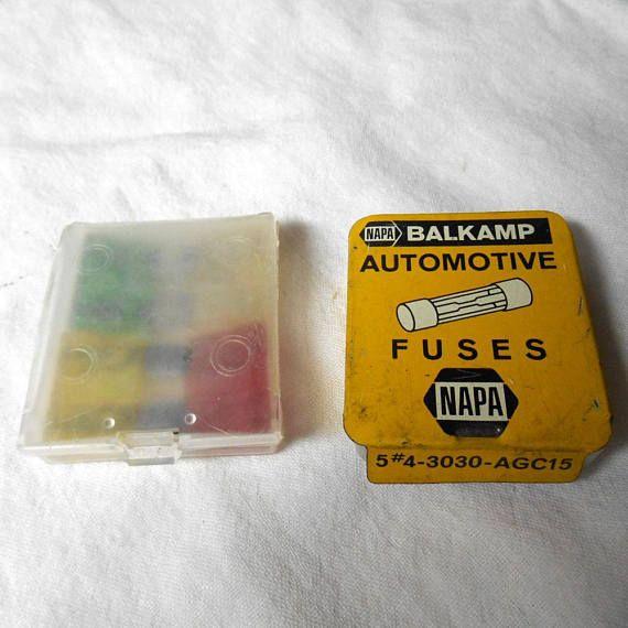 625047bc3fa8d91f995a9fd8ae5ef4b9 vintage empty litho tin napa balkamp automotive fuses fuse bus