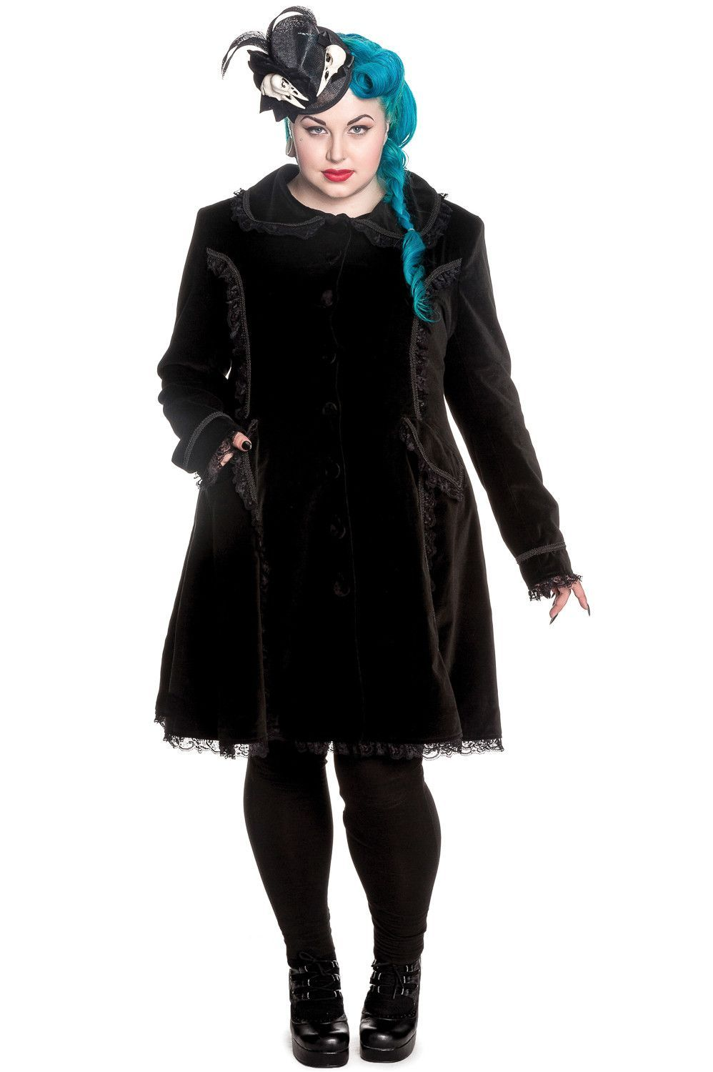 01a76a759d024 Plus size Victorian Steampunk Gothic Black Velvet Bustle Corset Coat by Spin  Doctor