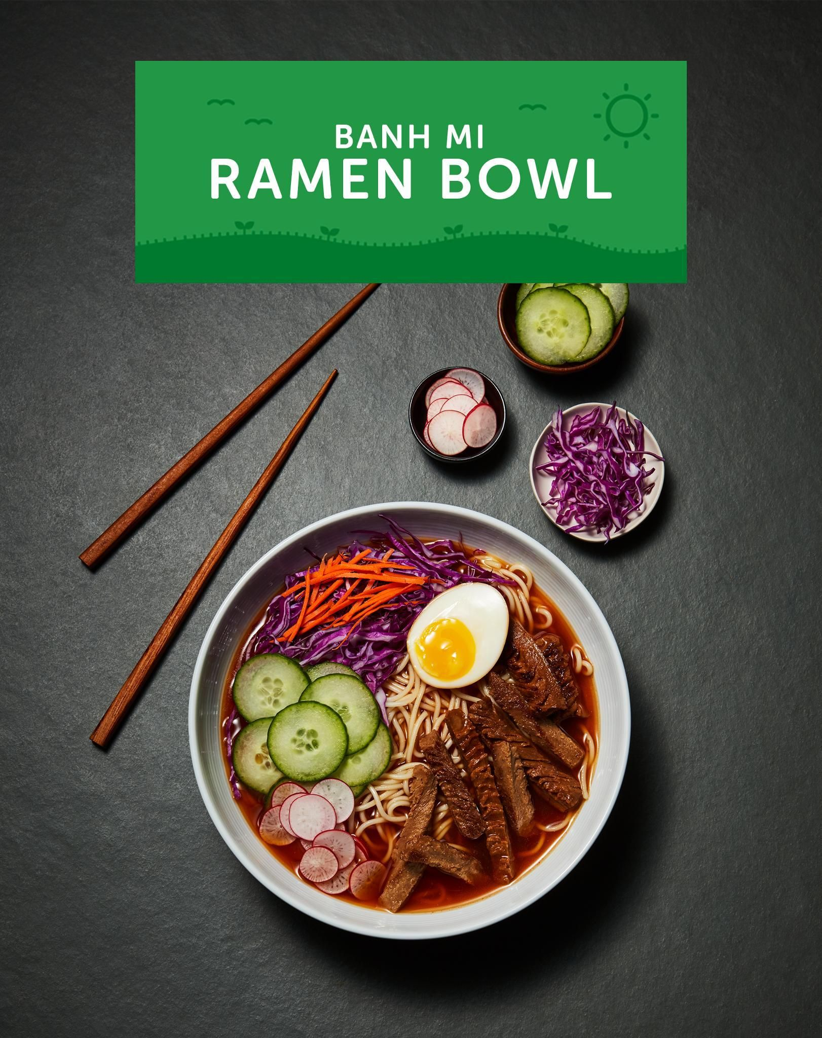 New year, new soup. This Bahn Mi Ramen Bowl is an easy vegetarian dinner that takes less than 30 minutes to make. If you're craving a nice warm meal, you have to try this.