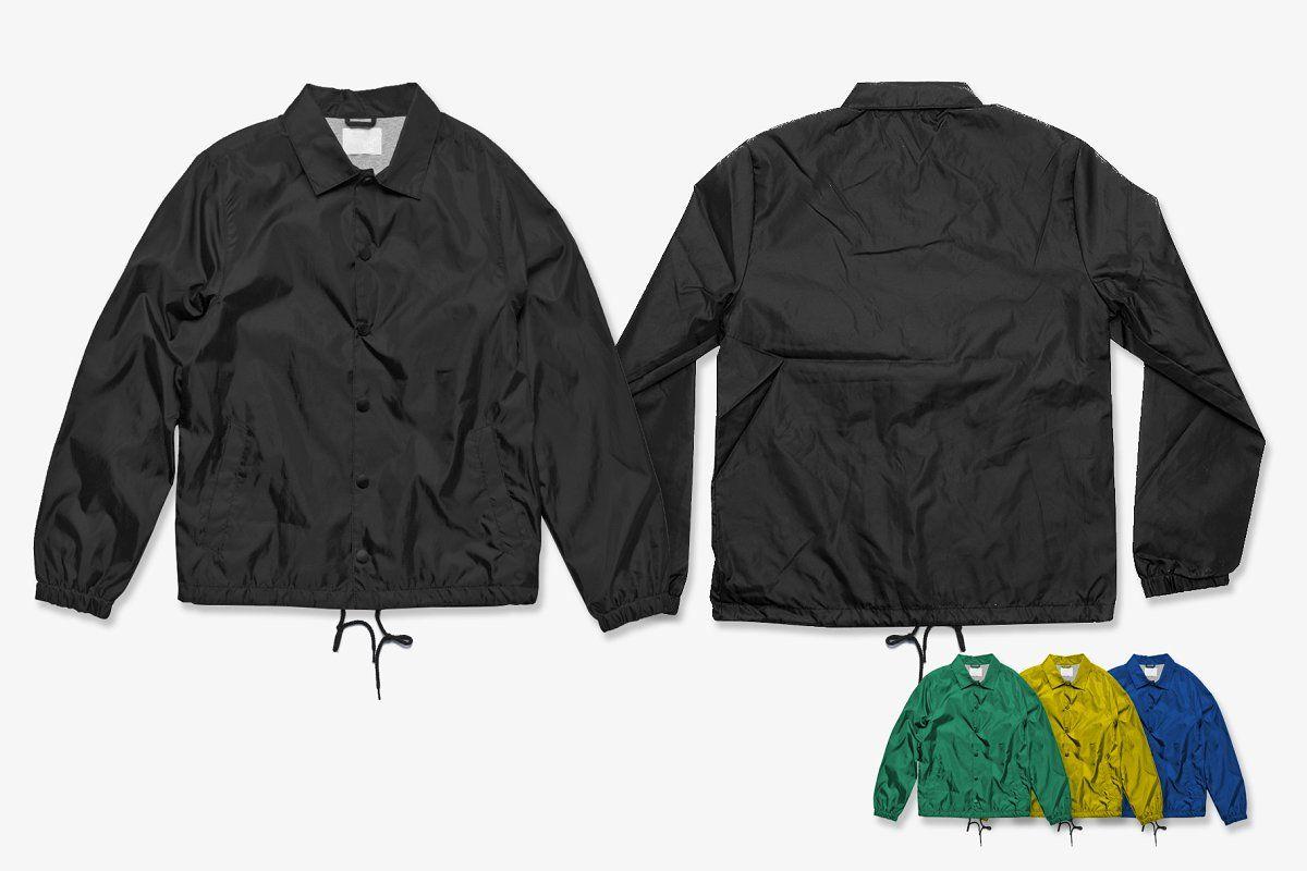 Download Streetwear Coach Jacket Mockup Sponsored Ad Mockup Ideal Website Streetwear Jas Pria Kaos Desain Logo