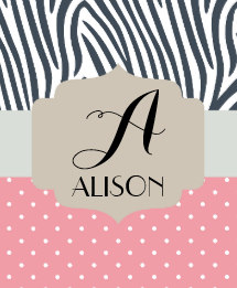 Pin by Nametagia on Alison   Name gifts, Personalized ...