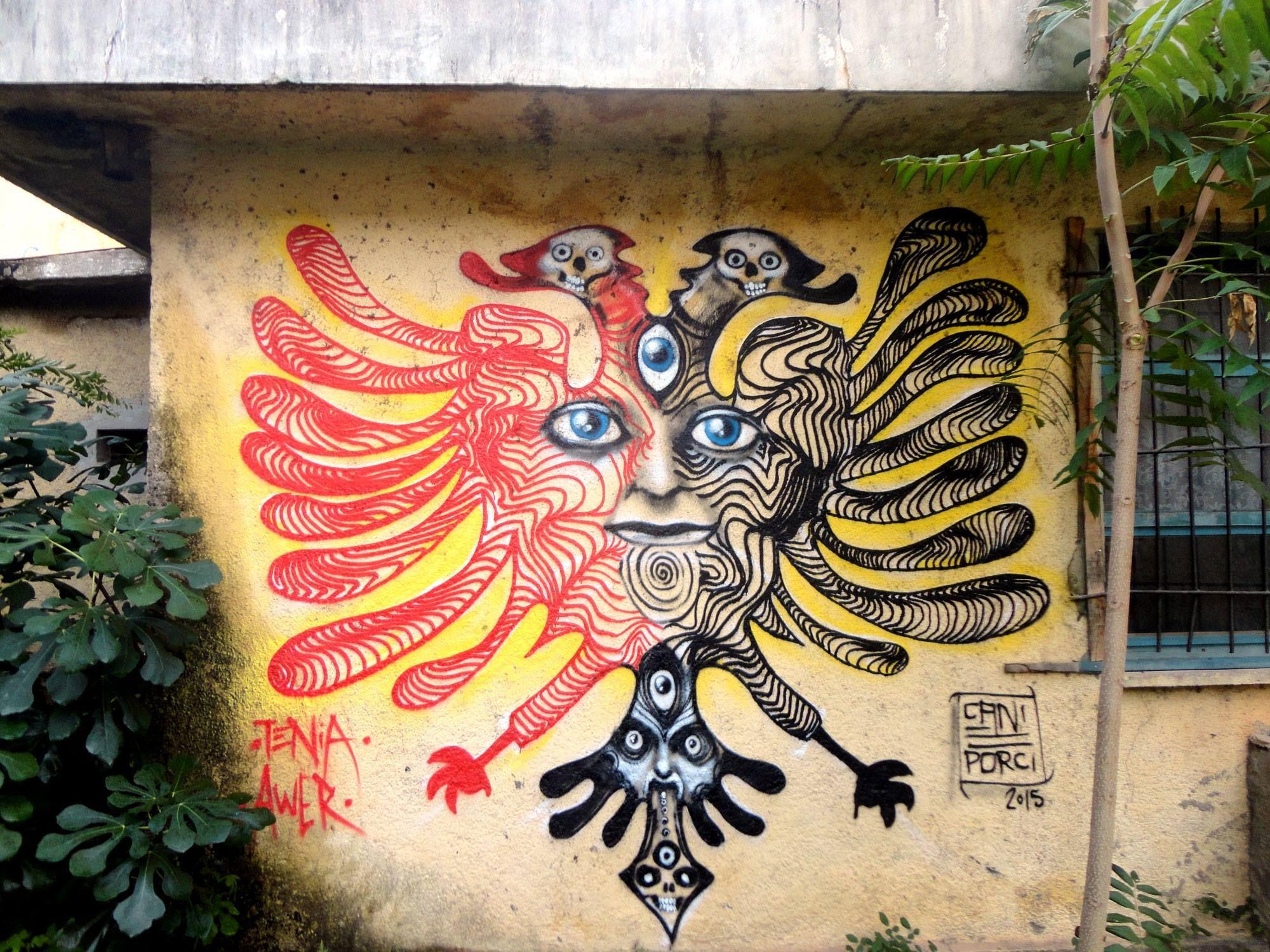 Awer Tenia In Albania 2015 Stencil Street Art Street Art Art