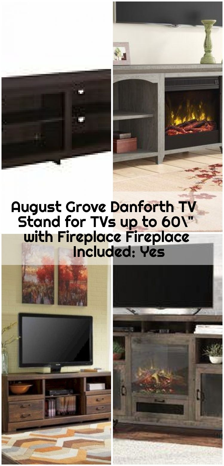 August Grove Danforth Tv Stand For Tvs Up To 60 With Fireplace