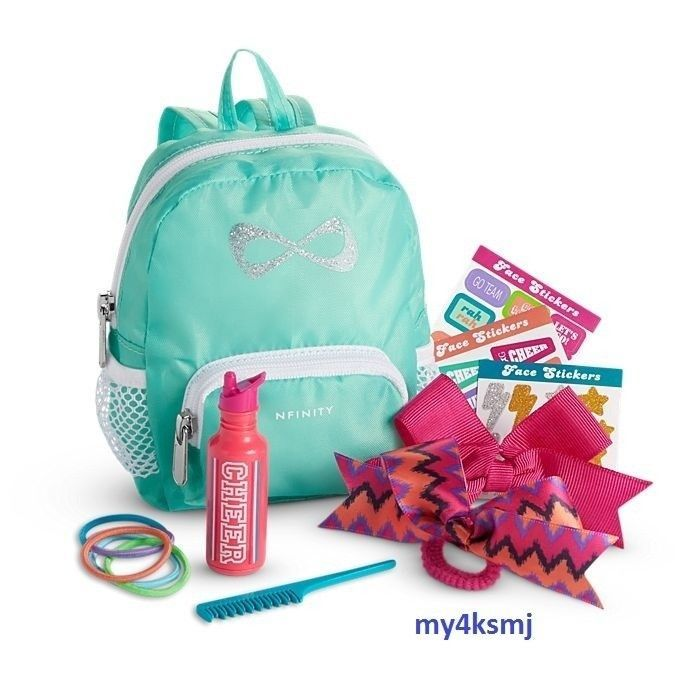 Details about American Girl Doll NFINITY CHEER Accessories SET backpack hairbows for outfit #americangirldollcrafts