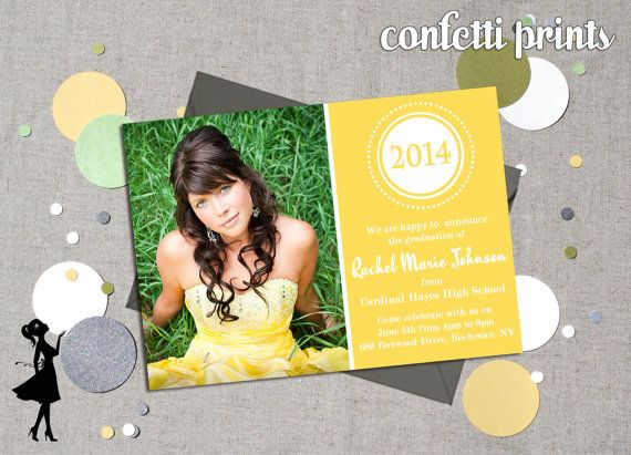 Graduation Announcement  FULL CIRCLE by ConfettiPrintsShop on Etsy, $12.00