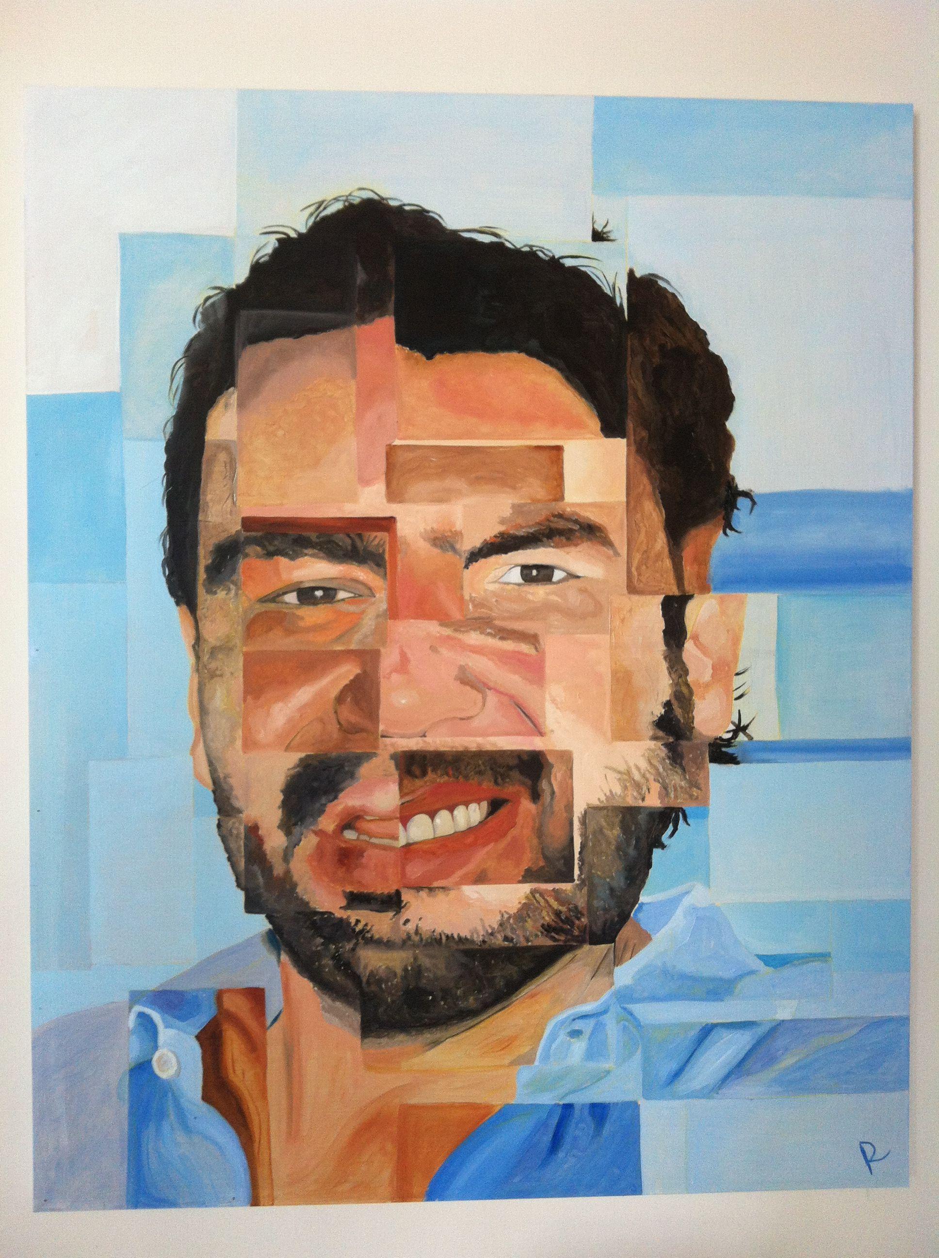 Retrato de Jorge, óleo sobre madera 1x.80 mts, Emilio Rama 2013