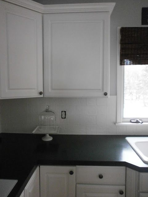 Painting Ceramic Tile A Backsplash Grout And Tiles Kitchen Renovations By Amber B Interios From The Simple Dwellings Blog