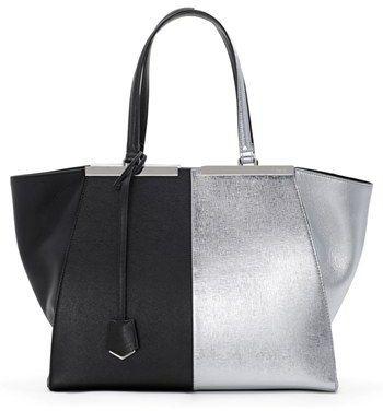 Fendi Bicolor Leather Shopper. Fendi Bicolor Leather Shopper Best Handbags 83224faeb72e6