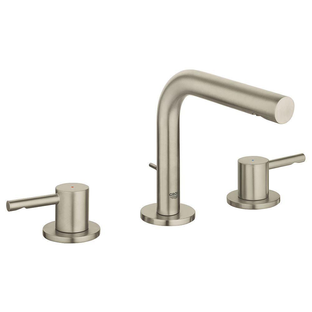 Grohe Essence M Size Bathroom Faucet With Tubular Spout In Brushed