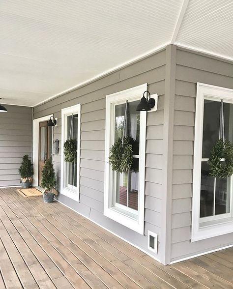 68+ Best Ideas House Exterior Paint Gray Front Porches #exteriorhousecolors