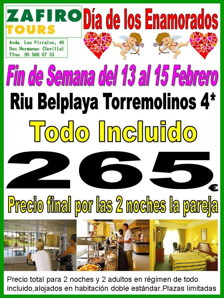 OFERTA DIA DE LOS ENAMORADOS HOTEL RIU BELPLAYA TORREMOLINOS