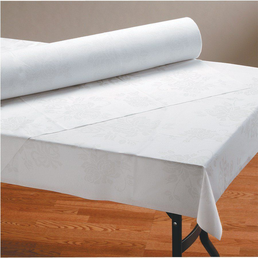 Hoffmaster 260046 40 X 100 Linen Like Silver Prestige Paper Roll Table Cover Iron Table Legs Living Room Table Sets Iron Table