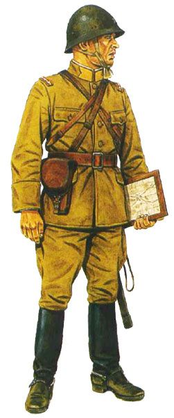 Japanese field artillery officer, Canton 1938, pin by Paolo Marzioli