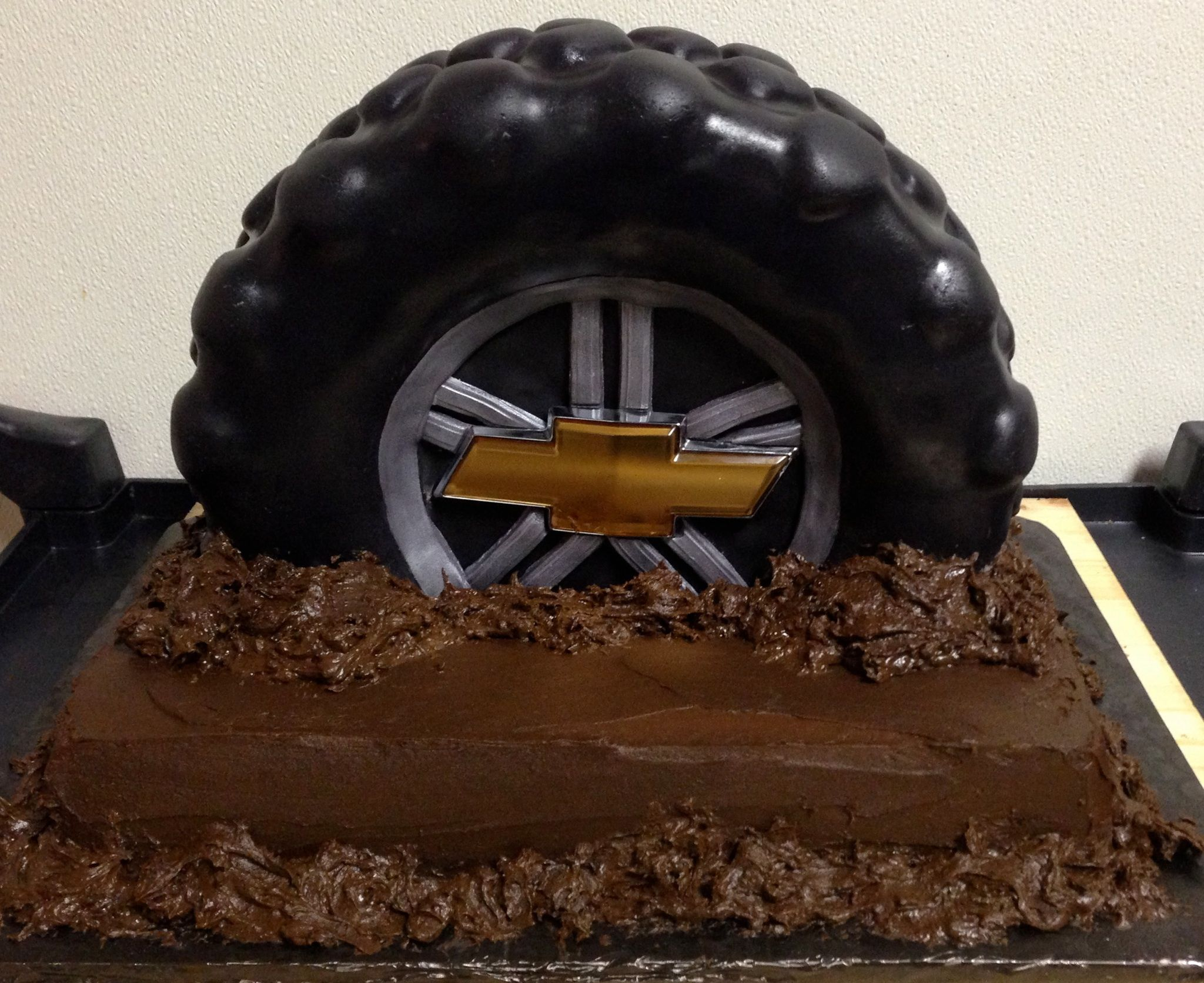 Tire Groom's Cake | Truck birthday cakes, Cars cake pops ...