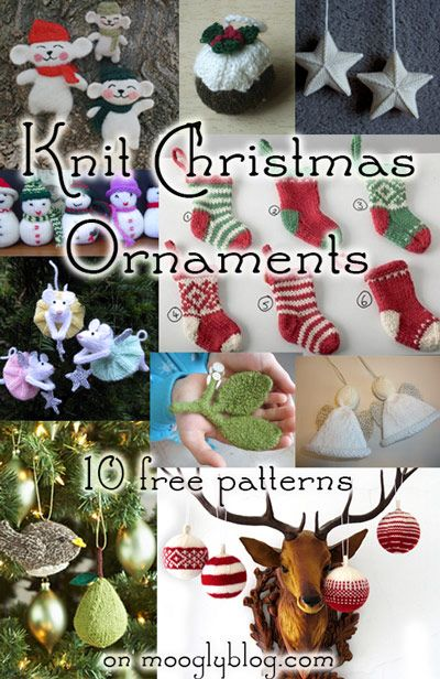 free knit christmas ornament patterns free ornament patterns ...
