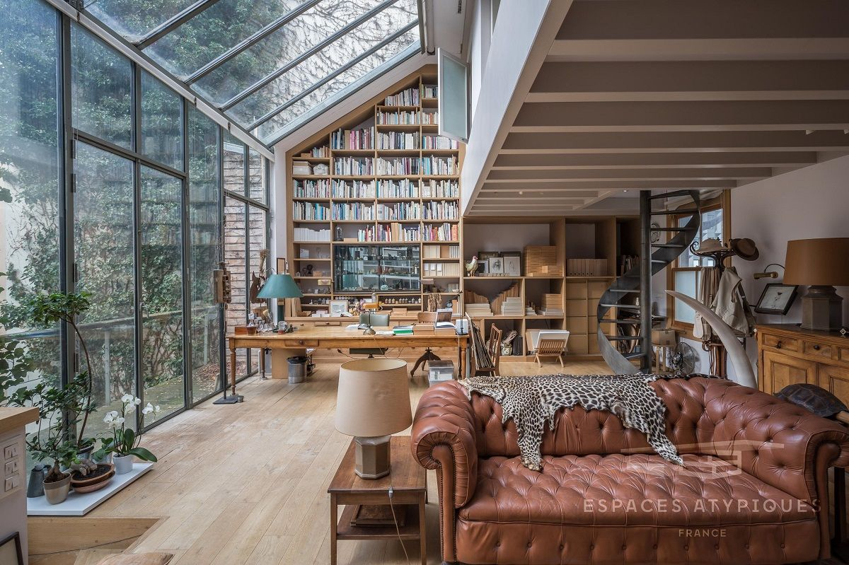 Spectacular Windows In A Serene Book-Filled Oasis in Paris — THE NORDROOM