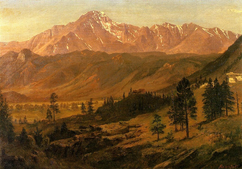Pikes Peak - Albert Bierstadt - WikiArt.org - encyclopedia of ...