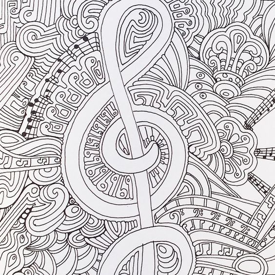 Color Me Happy Adult Colouring Book Music Coloring